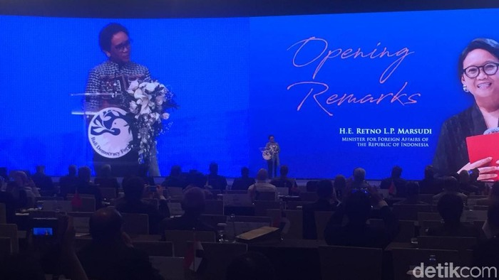 Menteri Luar Negeri Retno Marsudi membuka Bali Democracy Forum (BDF) ke-12 (Foto: Ibnu/detikcom)