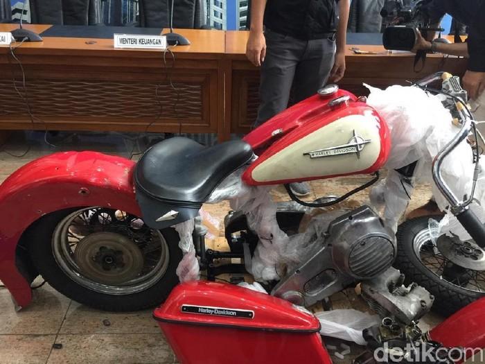 Penampakan Harley Davidson yang diselundupkan di pesawat Garuda Indonesia (Vadhia Lidyana/detikcom)