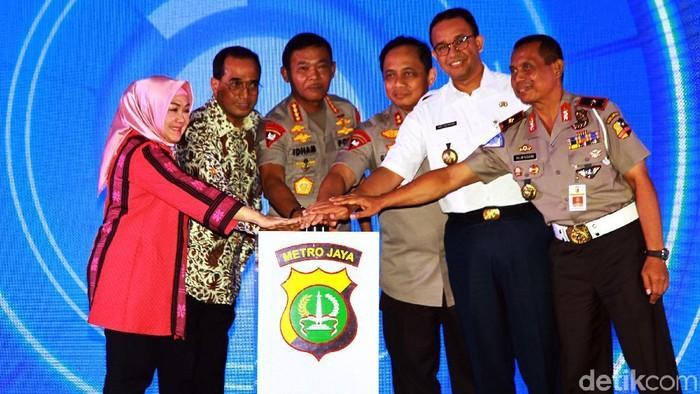 Peluncuran Satpam Mantap-Help Renakta di Polda Metro (Lamhot Aritonang/detikcom)