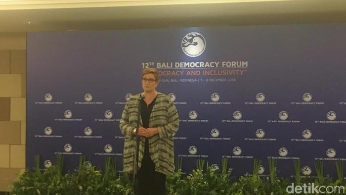 Menteri Luar Negeri Australia Marise Payne (Foto: Ibnu/detikcom)