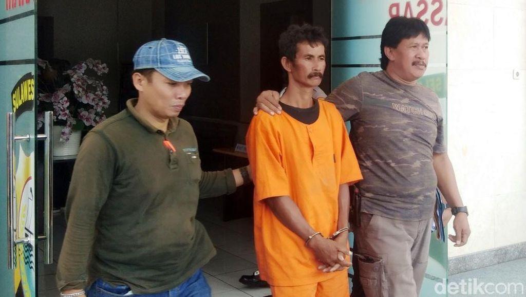 Paman Pelempar Adukan Semen ke Ponakan Hingga Tewas di Makassar Ditangkap