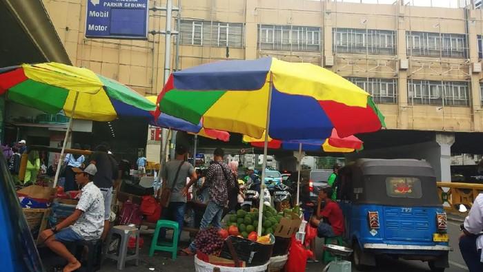 Foto: Kondisi sekitar Tanah Abang, Jakarta (Rizal Bahari-detikcom)