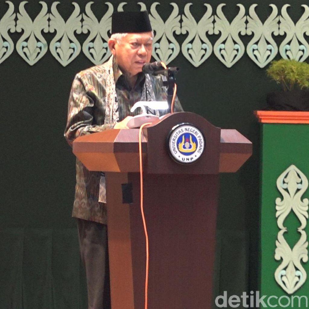 Kelakar Maruf Amin Soal Fenomena Nabi Palsu di Kalimantan
