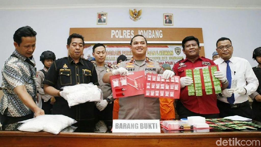 Seorang Bandar di Jombang Diringkus, Narkoba Senilai Rp 100 Juta Diamankan