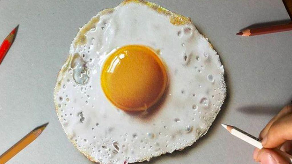 Seniman Italia Ini Lukis 10 Makanan hingga Tampilannya Super Nyata!
