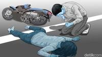 Mobil Lawan Arah Tabrak Motor di Tamansari, 2 Orang Terluka