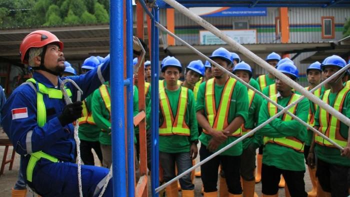 Tenaga kerja sektor bangunan (Foto: Agung Pambudhy/detikcom)