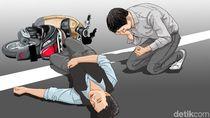 Perwira Polres Jakpus AKP Revi Mingga Tertabrak Pembalap Liar di HI