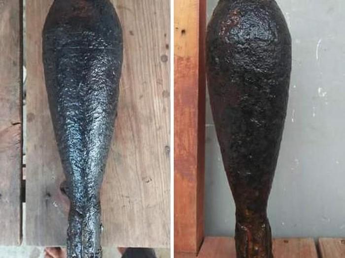 Foto: Dua mortir jenis A60 yang diperkirakan sisa perang kemerdekaan ditemukan di aliran Gayo Lues, Aceh.Dok: Polres Gayo Lues
