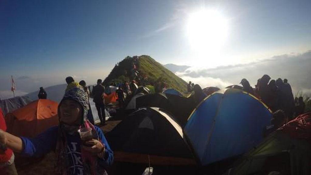 Kemping di Gunung Andong, Serasa di Pasar Saja