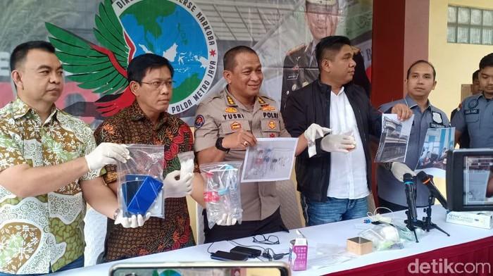 Rilis Polda Metro Jaya soal Kasus Narkoba (Foto: Wildan/detikcom)