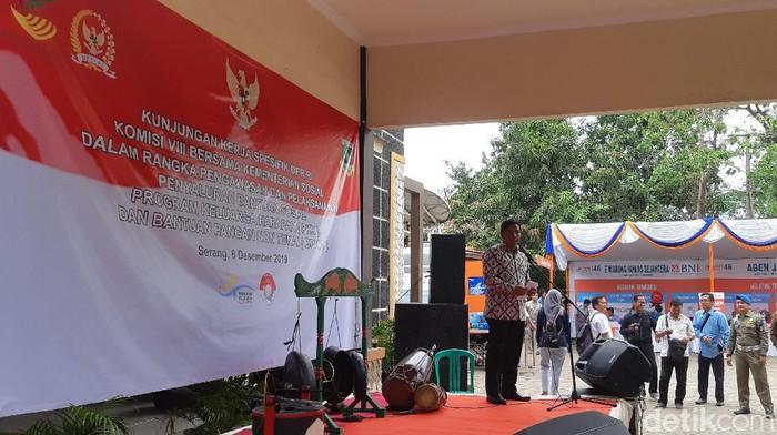 Direktur Jaminan Sosial Keluarga Kementerian Sosial MO Royani. (Foto: Bahtiar Rifai/detikcom)