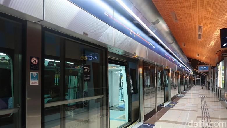 Metro di Dubai. (Bonauli/detikcom)