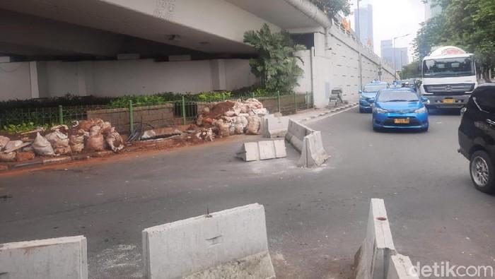 U-Turn di Jalan Satrio Jaksel. (Foto: Yogi/detikcom)