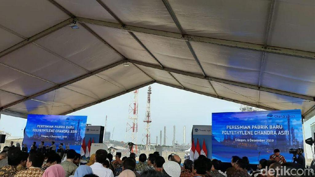 Jokowi Resmikan Pabrik Baru Chandra Asri Rp 5 T di Cilegon