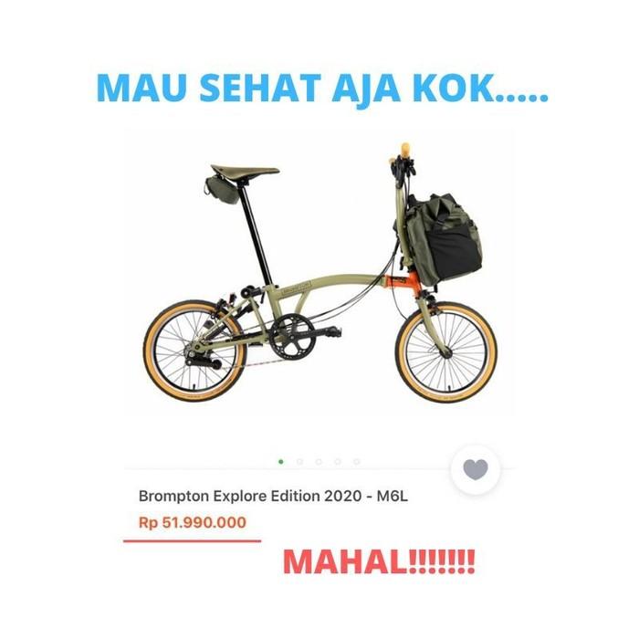 Sepeda brompton asal Inggris memang dibandrol dengan harga selangit. Di toko online pun tembus hingga Rp 51 juta. Foto: detikHealth