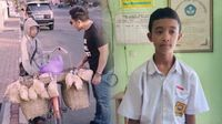 Semangat! Bocah SMP Ini Keliling Jualan Karak Untuk Biayai Sekolah