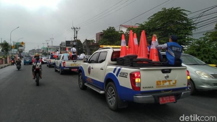 Jalur Puncak Bogor Usai Uji Coba SIstem 2-1 (Sachril Agustin Berutu/detikcom)