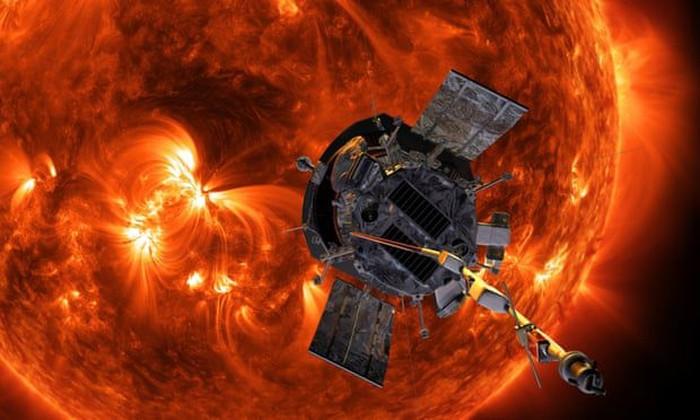 Ilustrasi wahana Parker dekati Matahari. Foto: NASA