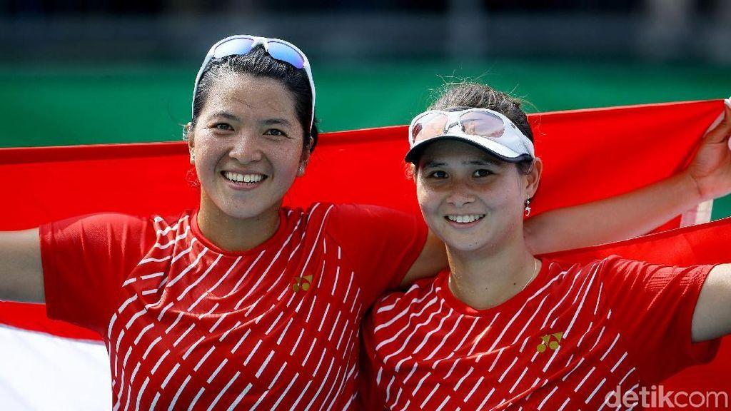 Mantap! Tenis Ganda Putri Indonesia Raih Medali Emas