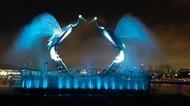 Foto: Ada Crane Bisa Menari di Singapura