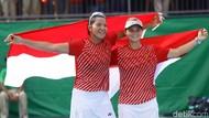 Aksi Tenis Ganda Putri Indonesia Menyabet Medali Emas