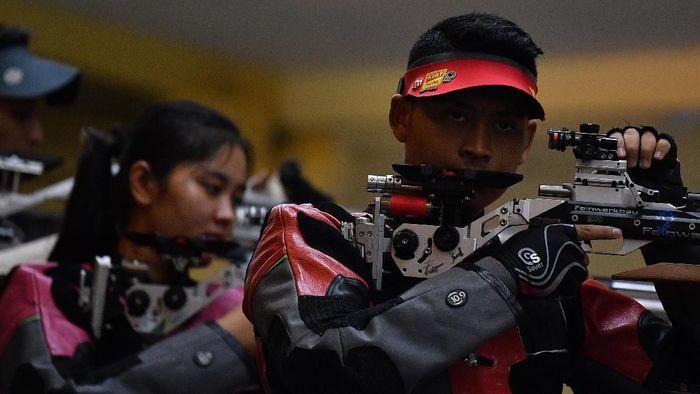 Fathur Gustafian, atlet binaan KONI Kabupaten Bogor meraih emas SEA Games 2019 (ANTARA FOTO/Sigid Kurniawan)
