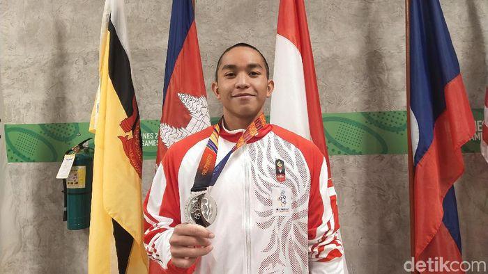 Farrel Tangkas baru bisa menyumbangkan perak di SEA Games 2019. (Foto: Mercy Raya/detikcom)