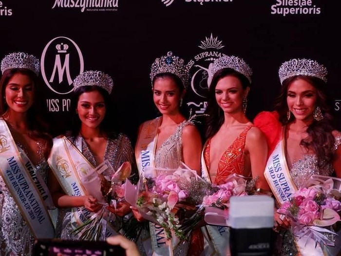 Jesica Fitriana jadi 2nd Runner up atau juara tiga di Miss Supranational 2019.Foto: Dok. Instagram Puteri Indonesia