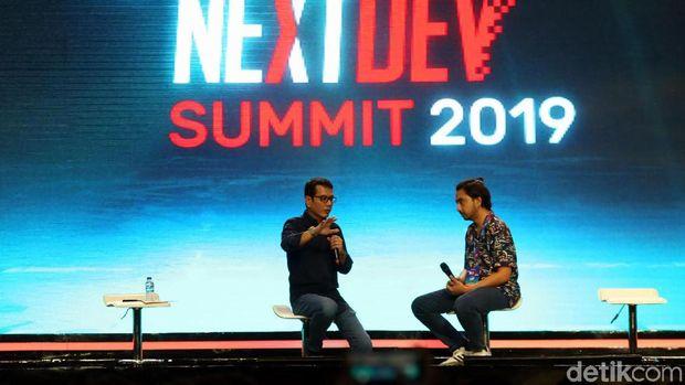 Menteri Pariwisata dan Ekonomi Kreatif Wishnutama jadi pemateri di acara The Nextdev Summit 2019. Di sana ia bicara soal peluang teknologi di Sektor Pariwisata.