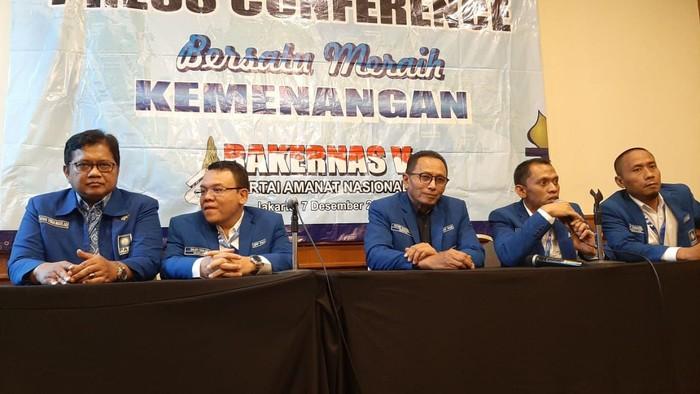 Konferensi Pers di Rakernas PAN (Lisye Sri Rahayu/detikcom)