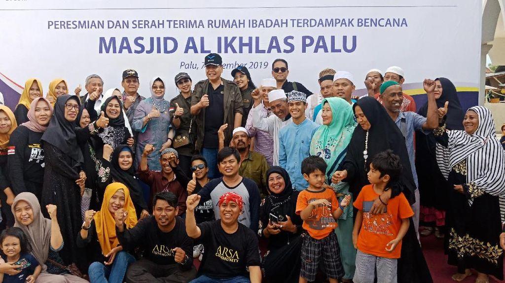 Chairul Tanjung Resmikan 3 Bangunan Baru Masjid Terdampak Gempa Palu