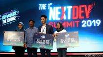 Wajah Semringah 3 Pemenang Telkomsel The NextDev Summit 2019