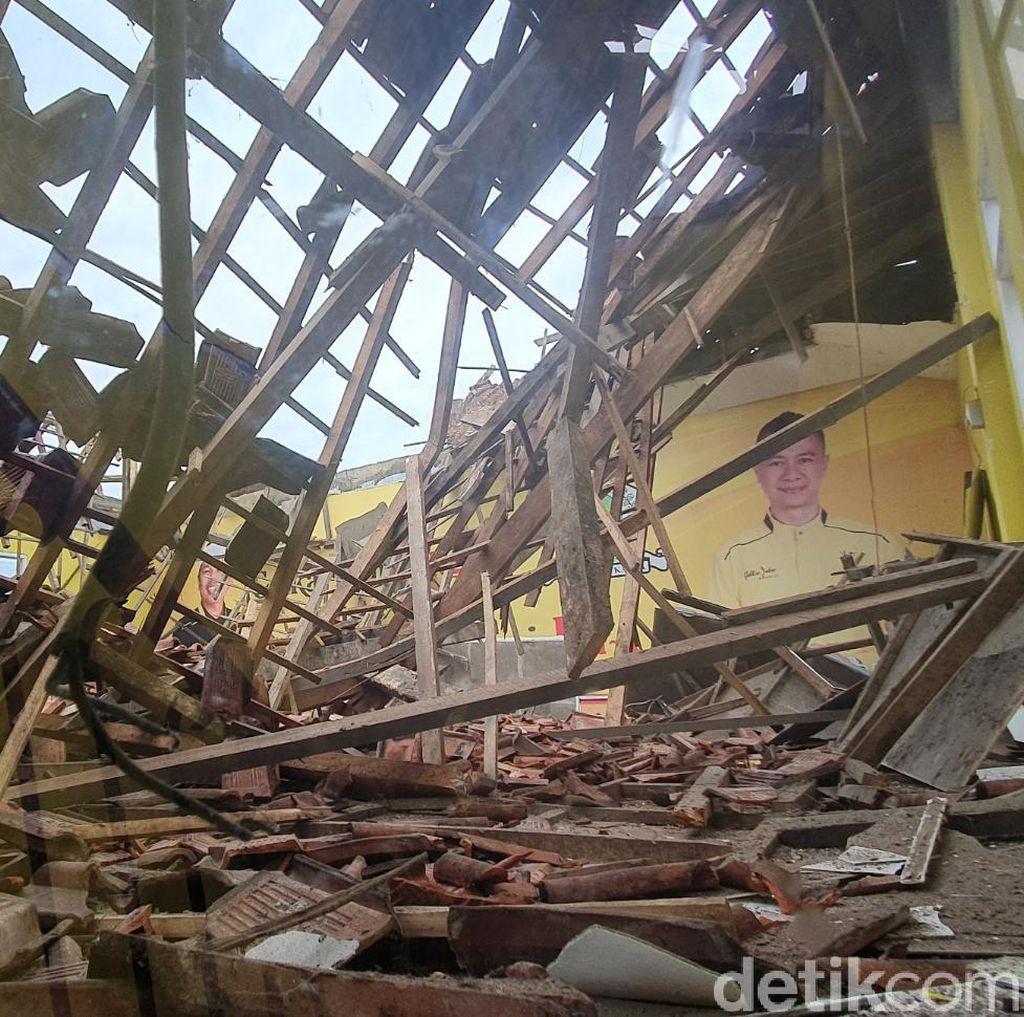 Diguyur Hujan, Ruangan Kantor Golkar Kota Sukabumi Roboh