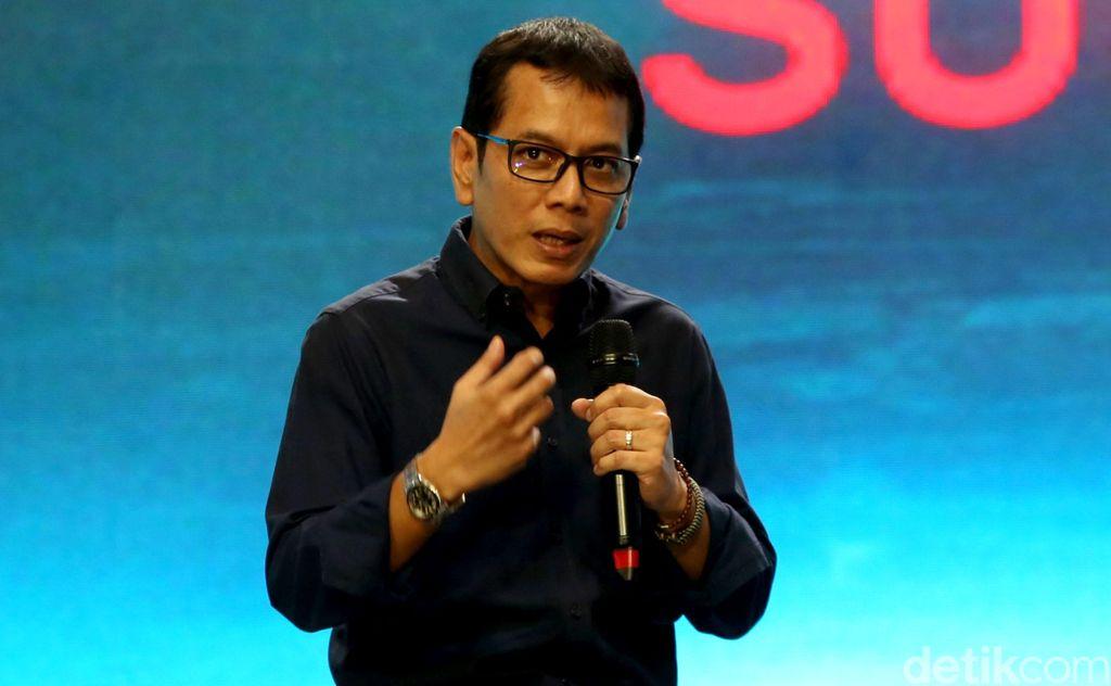 Menteri Pariwisata dan Ekonomi Kreatif Wishnutama hadir menjadi pemateri di acara Telkomsel The Nextdev Summit 2019 yang digelar di JCC Senayan pada Sabtu (7/12/1/2019).