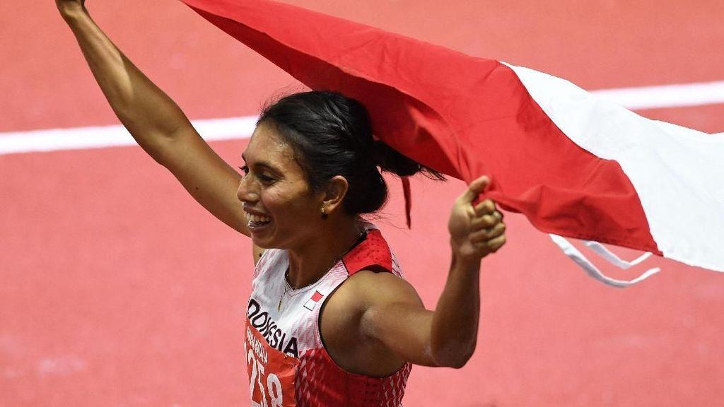 Usai Raih Emas Lompat Jauh, Maria Londa: Selamat Tinggal SEA Games!