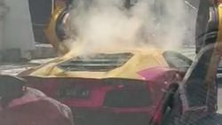 Viral Lamborghini Terbakar di Jalan Mayjen Sungkono Surabaya
