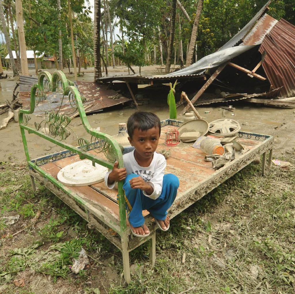Potret Desa Poi Sulteng Usai Diterjang Banjir Bandang