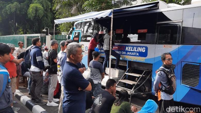 Samsat keliling di CFD Jakarta