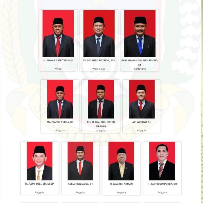 Wajah Ketua Komisi D Tertukar di Website DPRD Sumut (screenshot)