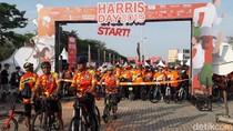 Bugar dengan Olahraga Lari dan Sepedaan di Harris Day 2019