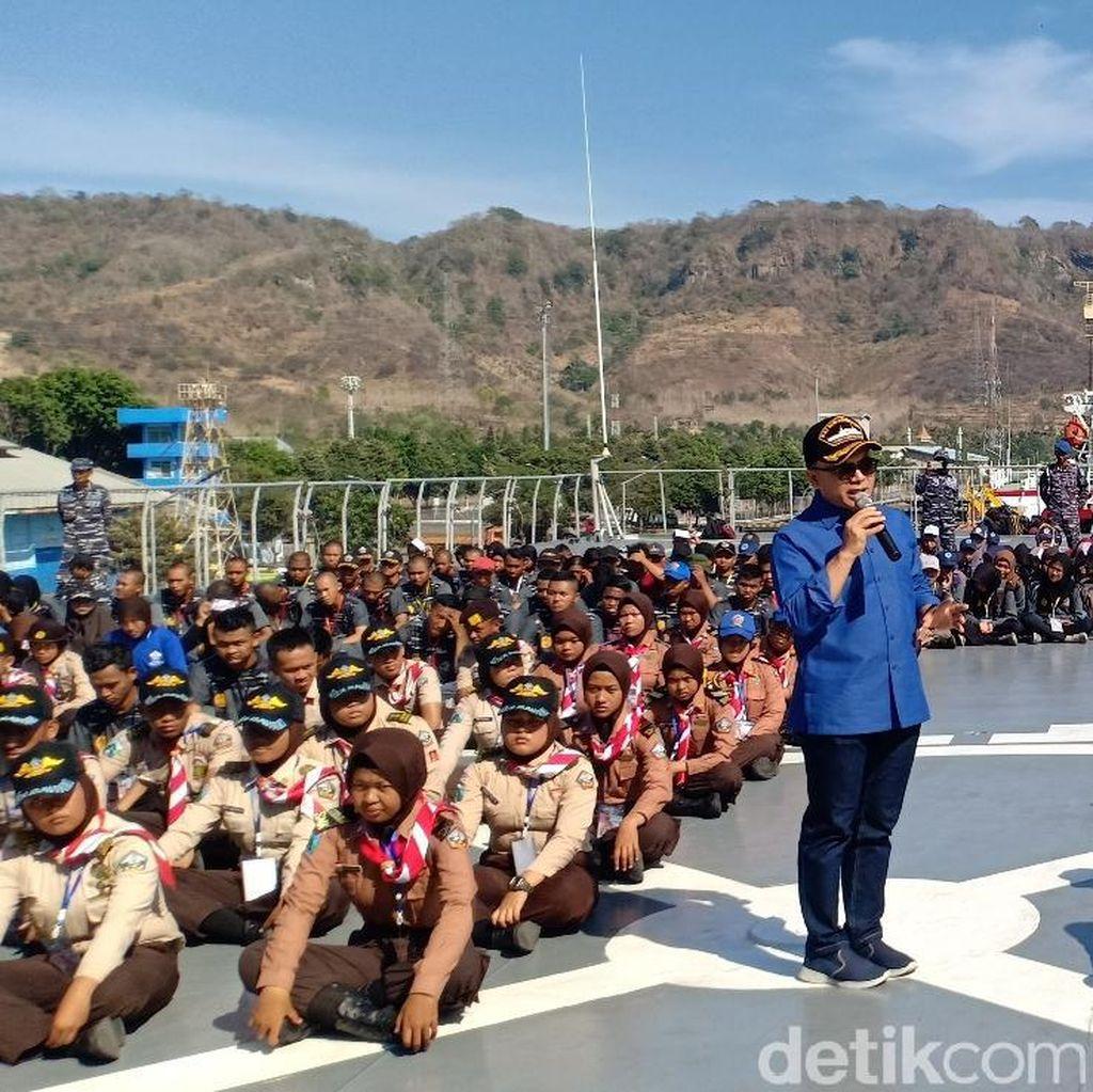 Di Atas KRI Surabaya 591, Bupati Anas Cerita Tantangan Bangsa ke Depan