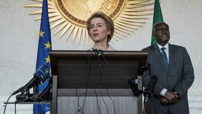 Presiden Komite Eropa Ursula von Der Leyen mengunjungi markas Uni Afrika di Etiopia.