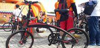 Sepeda lipat merek Pacific tipe Noris milik Ichsan.