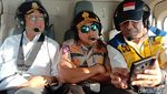 Gaya Menhub Pantau Kesiapan Mudik Pakai Helikopter