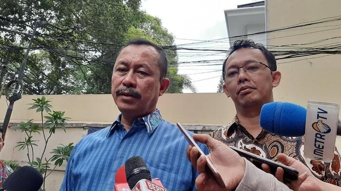 Foto: Ketua Komnas HAM Ahmad Taufan Damanik (baju biru) (Lisye-detikcom)