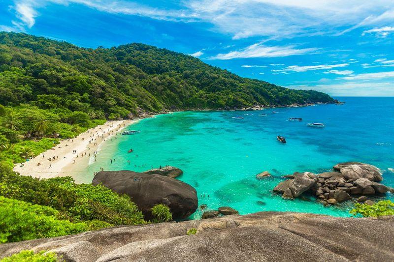 Similan Islands National Park begitulah namanya. Karena ekosistemnya yang begitu kaya, Similan Island menjadi salah satu taman nasional kebanggaan Thailand.(iStock)