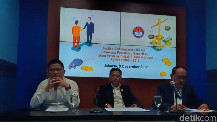 Konferensi pers LPSK soal peran justice collaborator di pengungkapan kasus korupsi (Faisal Javier/detikcom)