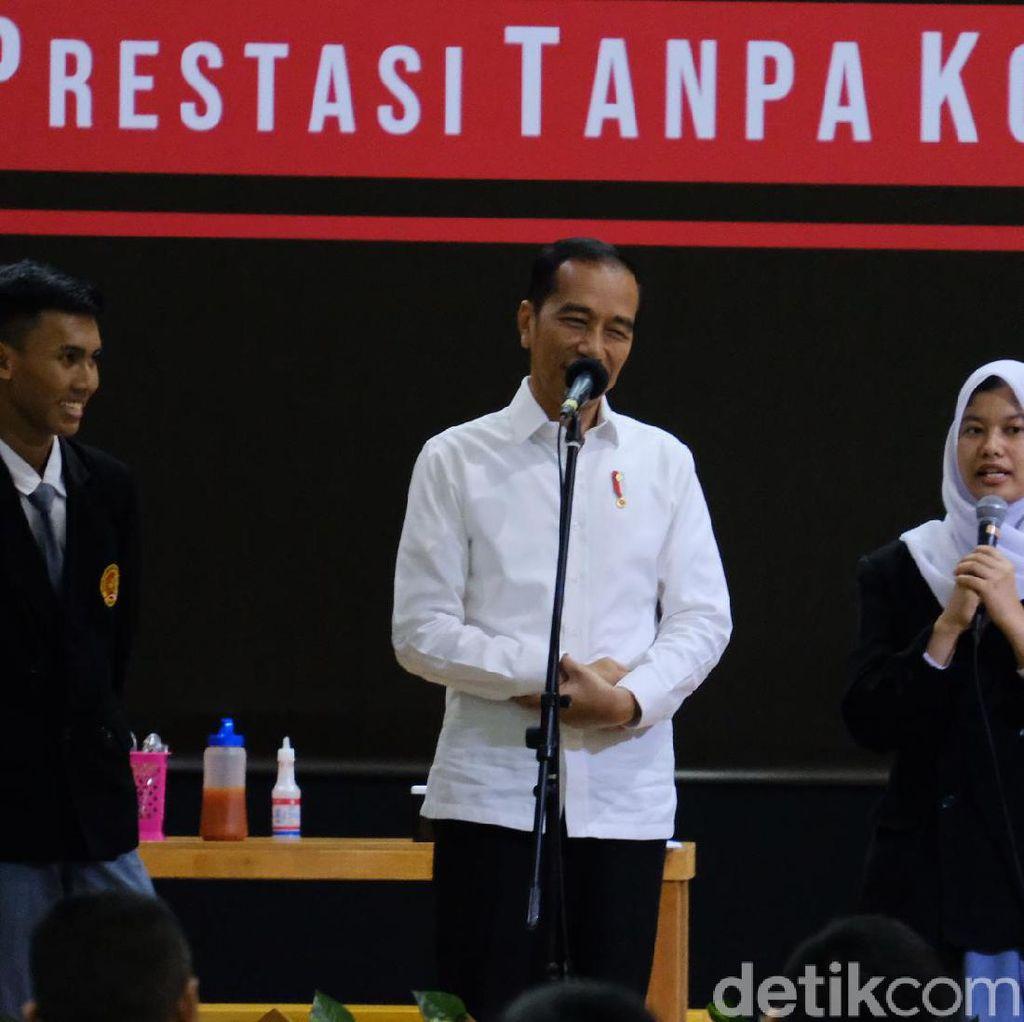 Anak SMK Bertanya Kenapa Koruptor Tak Dihukum Mati, Jokowi Menjawab