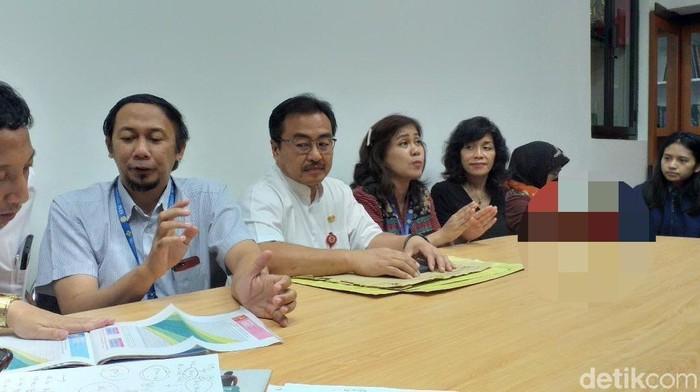 Konferensi pers soal penanganan bayi Pandhu (Amir Baihaqi/detikcom)